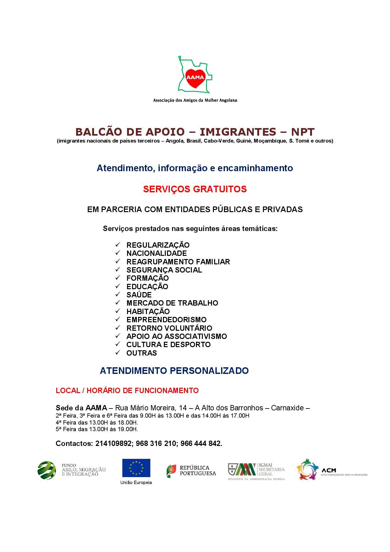 You are currently viewing Balcão de Apoio – Imigrantes NPT