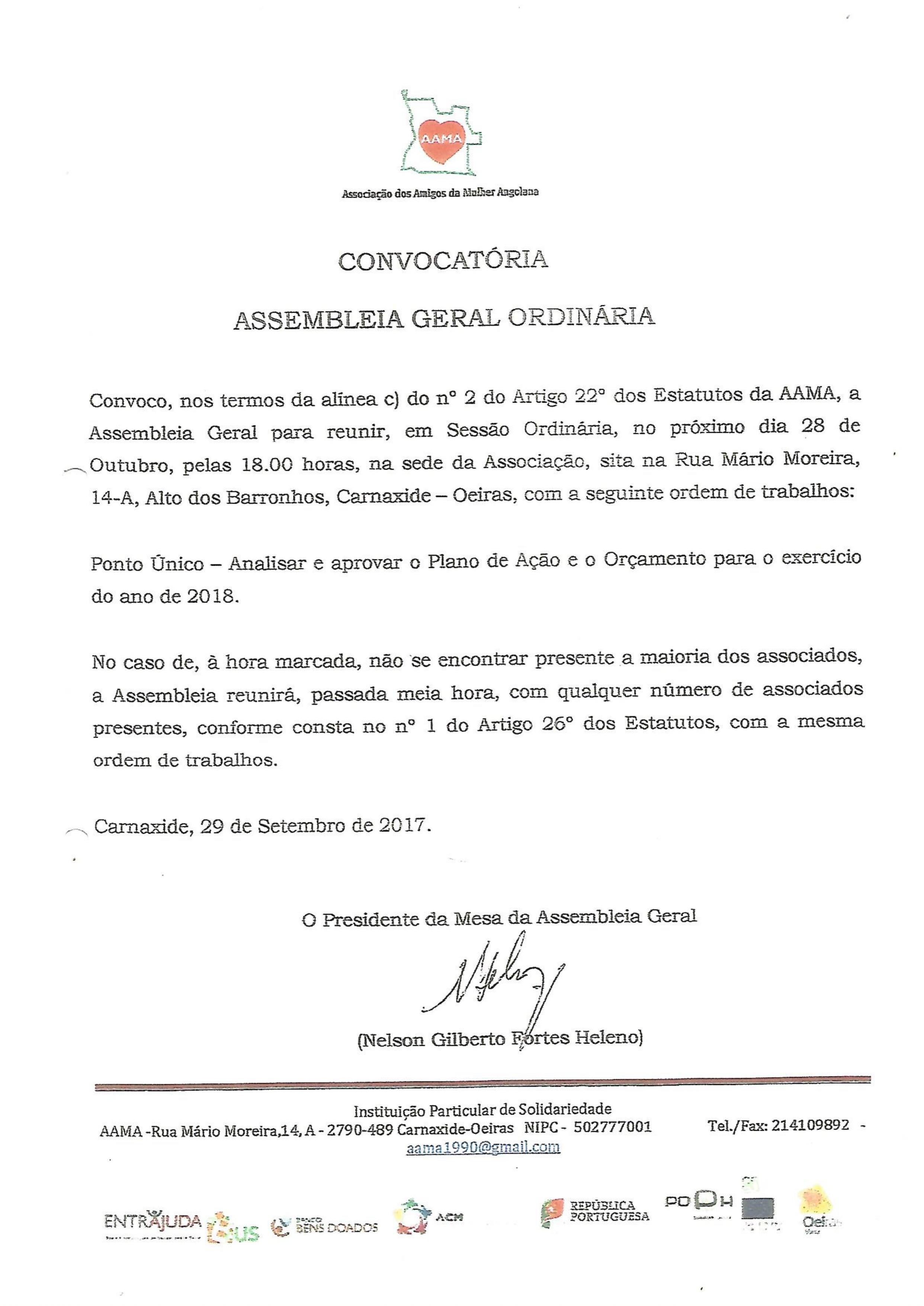 You are currently viewing Convocatória – Assembleia Geral
