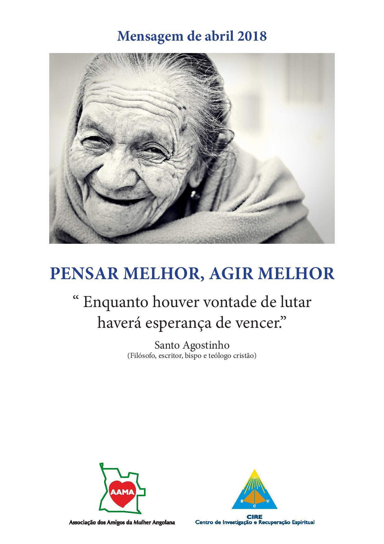 Read more about the article Mensagem de Abril