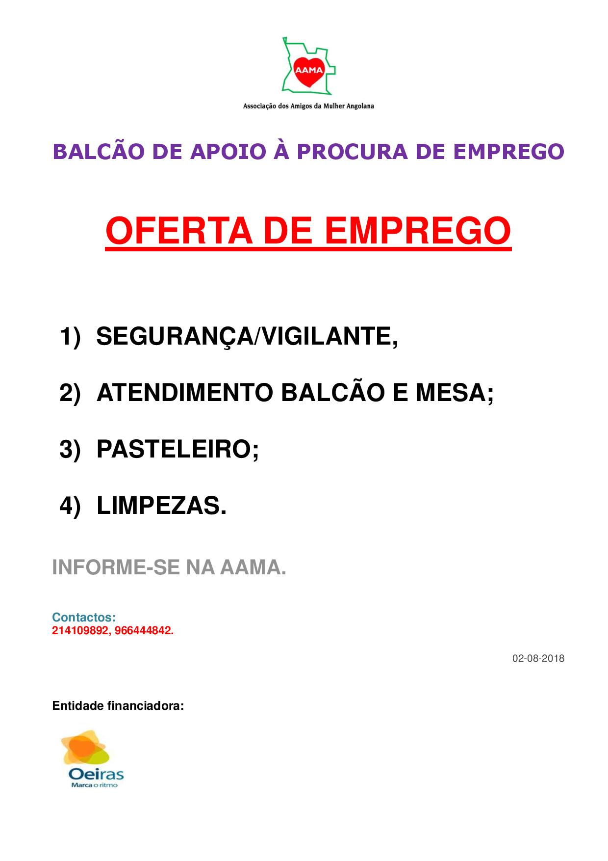 You are currently viewing Oferta de Emprego