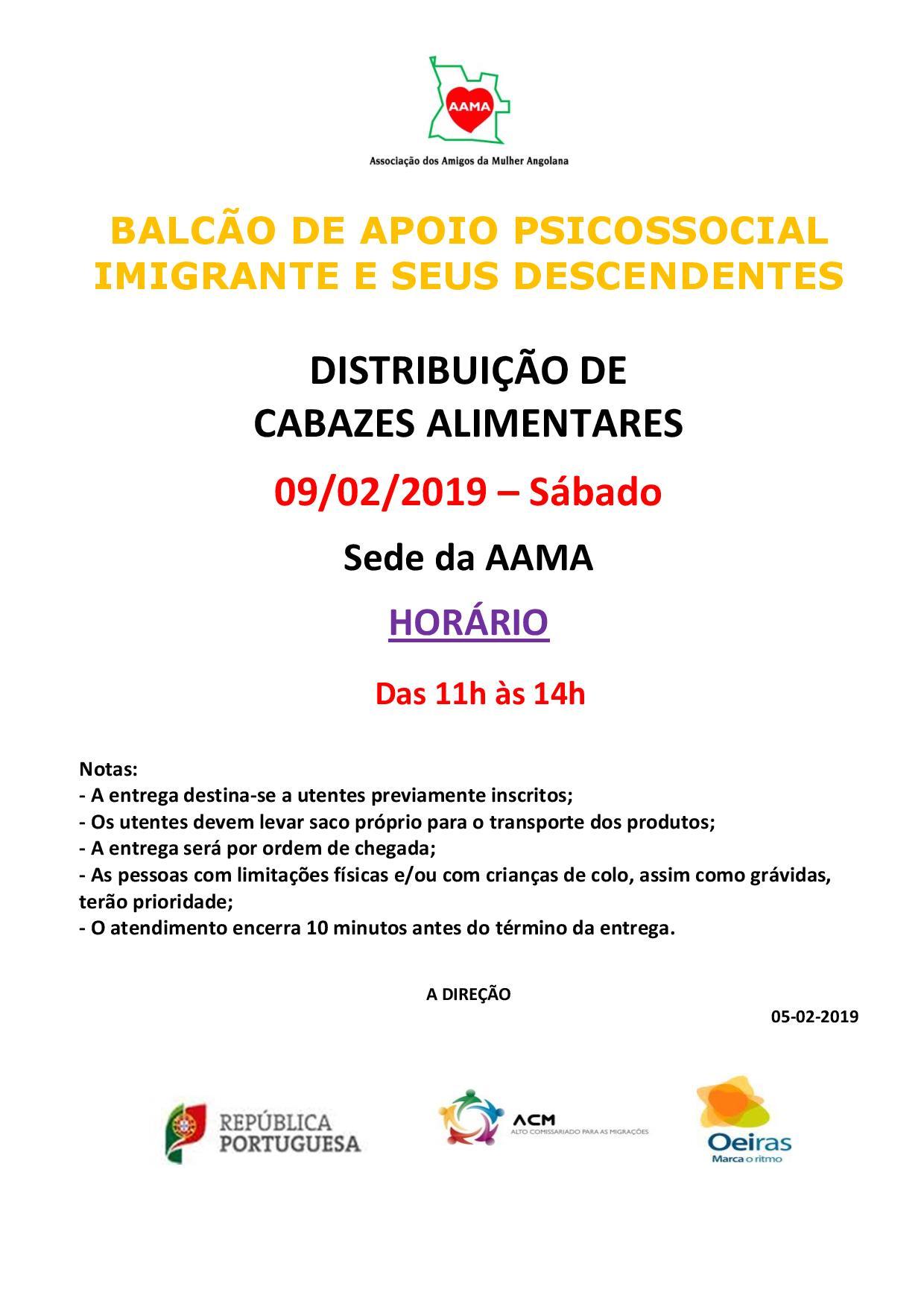 You are currently viewing Distribuição de Cabazes Alimentares