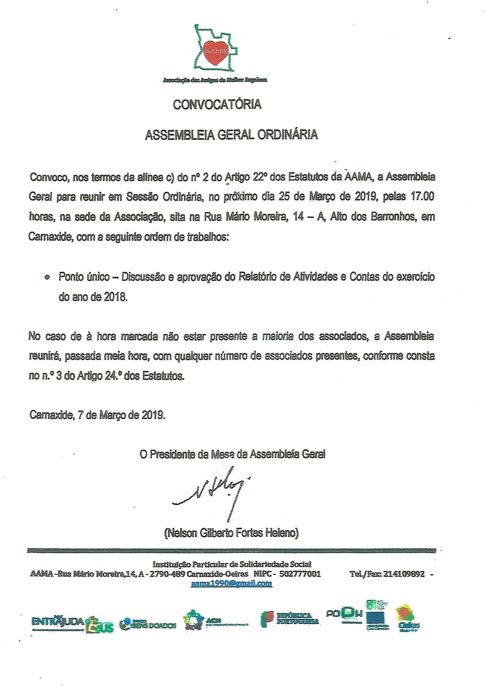 You are currently viewing Convocatória – Assembleia Geral Ordinária