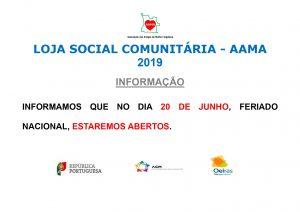 Read more about the article Feriado 20 Junho