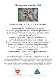 Read more about the article Mensagem de Setembro