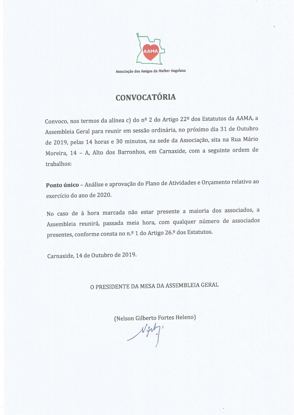 You are currently viewing Convocatória – Plano de Atividades e Orçamento