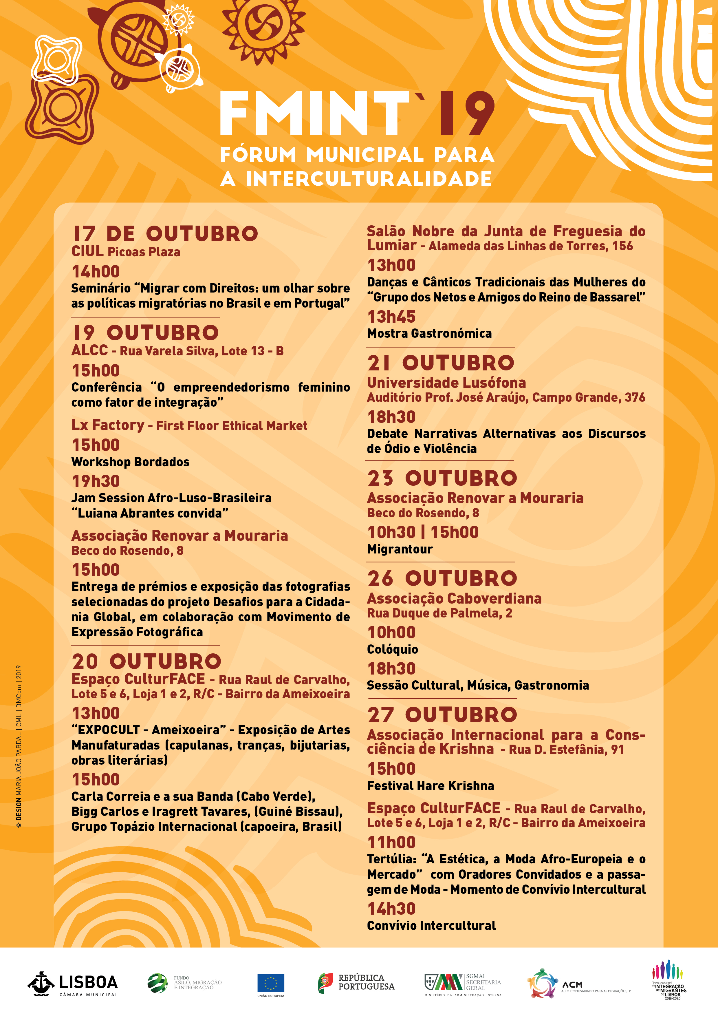 You are currently viewing FMINT'19 – Fórum Municipal para a Interculturalidade