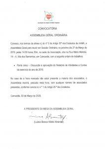 Read more about the article Convocatória Assembleia Geral