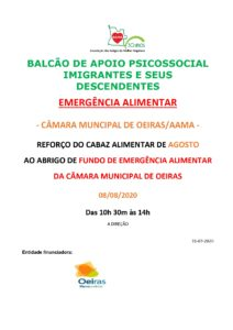 Read more about the article Reforço do Cabaz Alimentar