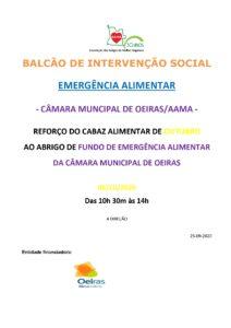Read more about the article Reforço de Cabaz Alimentar