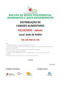 Read more about the article Distribuição de Cabazes Alimentares