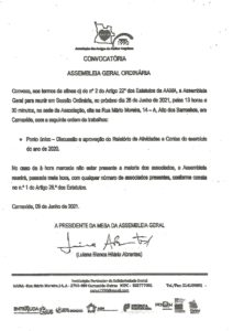 Read more about the article Convocatória